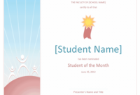 28+ [ Free Student Certificate Templates ] | Download regarding Free Printable Student Of The Month Certificate Templates