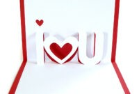 28+ [ I Love U Pop Up Card Template ] | Thank You Pop Up throughout I Love You Pop Up Card Template