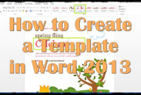 28 Images Of Creating A New Template In Word 2013 | Splinket with Creating Word Templates 2013