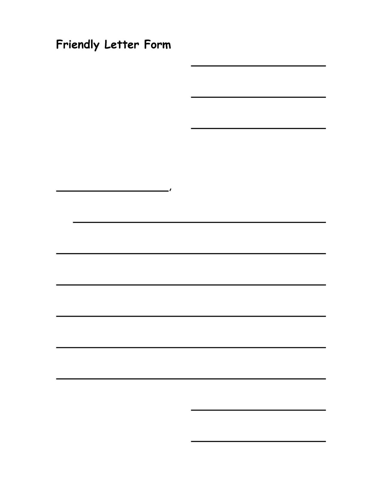 28+ [ Letter Template Ks2 ] | Blank Letter Template Regarding Blank Letter Writing Template For Kids