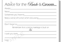 28+ [ Marriage Advice Cards Templates ] | 25 Best Ideas pertaining to Marriage Advice Cards Templates