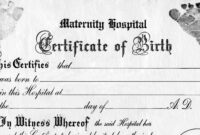 28+ [ Old Birth Certificate Template ] | Best Photos Of Old for Birth Certificate Templates For Word