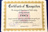 28+ [ Safety Recognition Certificate Template regarding Safety Recognition Certificate Template