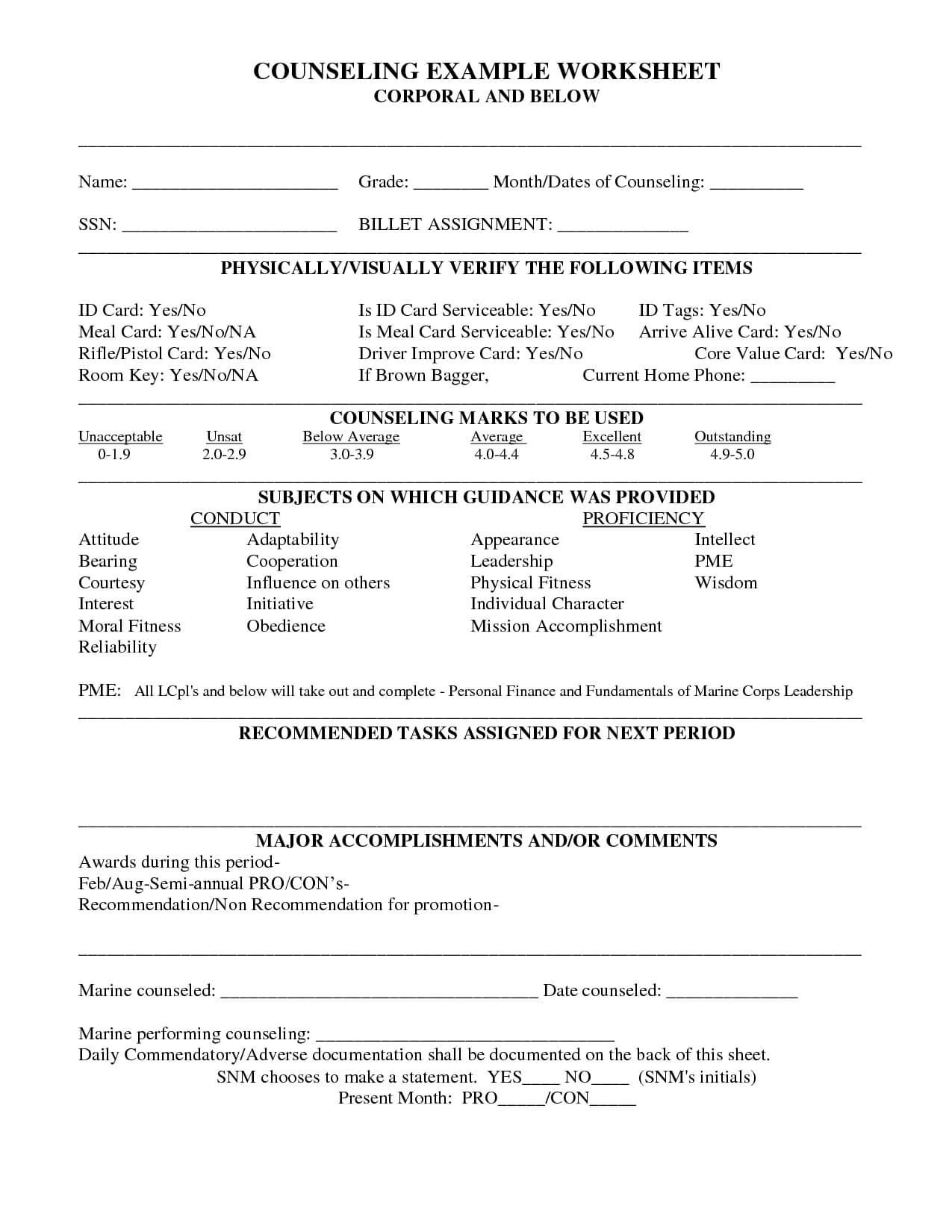 28+ [ Usmc Pro Con Worksheet ] | Usmc Pro Con Worksheet With Usmc Meal Card Template