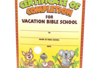 28+ [ Vbs Certificate Template ] | Vacation Bible School Inside Hayes Certificate Templates