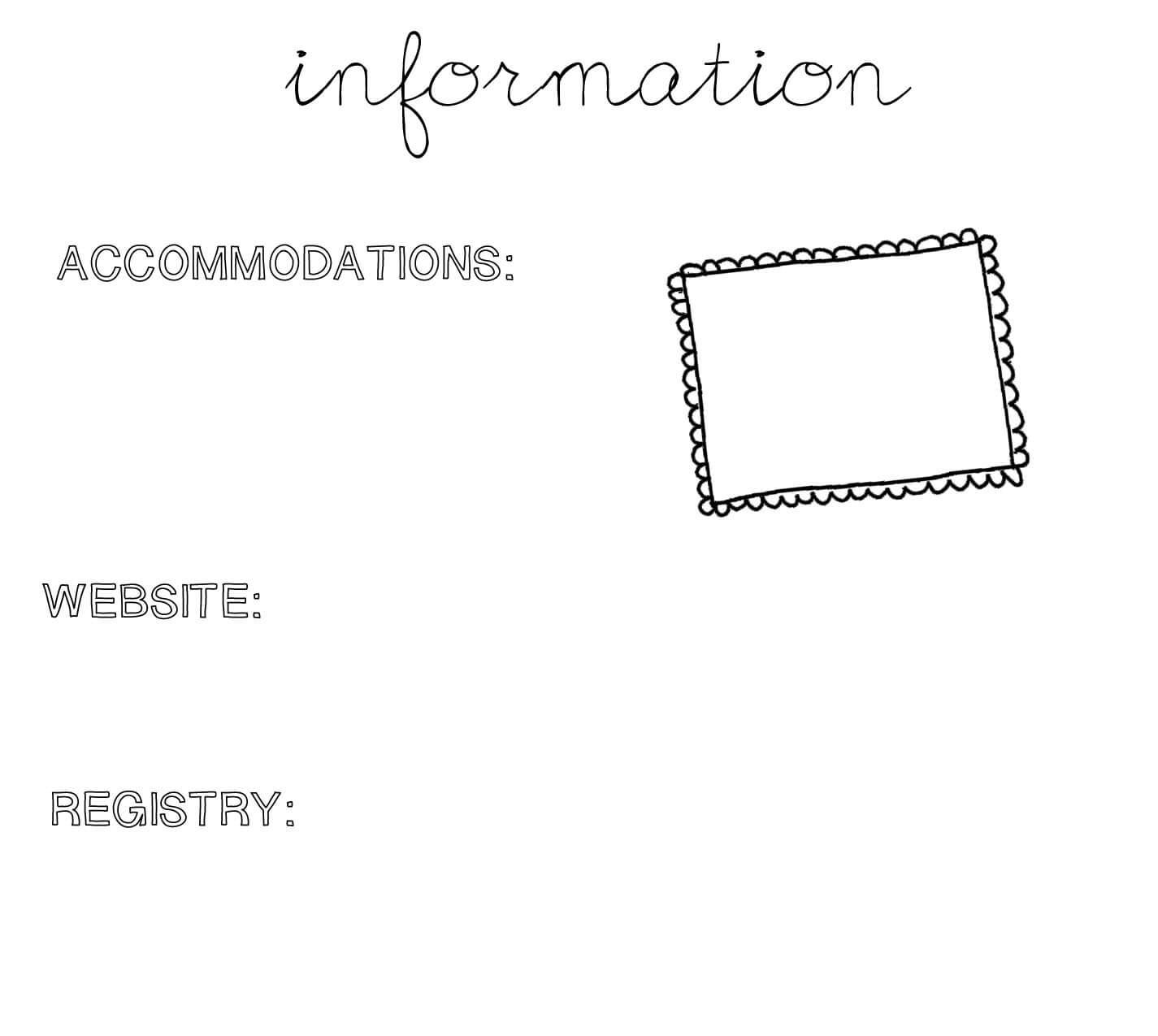 28+ [ Wedding Hotel Information Card Template ] | Printable For Wedding Hotel Information Card Template