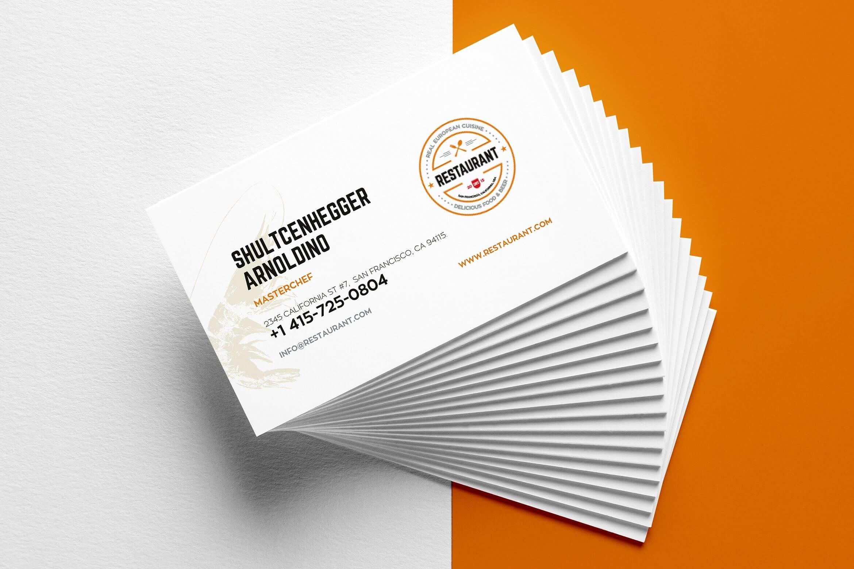 29+ Creative Restaurant Business Card Templates - Ai, Apple With Food Business Cards Templates Free