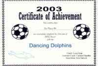 29 Images Of Blank Award Certificate Template Soccer intended for Soccer Certificate Template Free