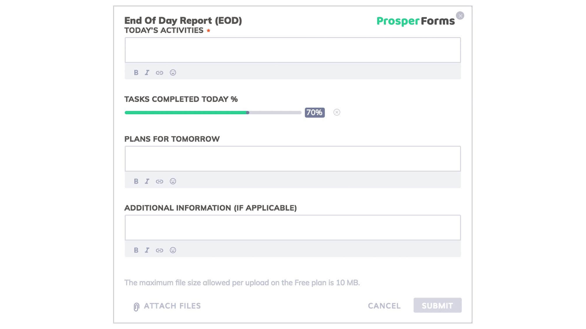 3 Best Examples: Daily Report Template | Free Templates Download With Work Summary Report Template