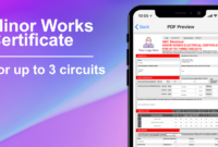 3 Circuit Minor Works Electrical Certificate – Icertifi within Electrical Minor Works Certificate Template
