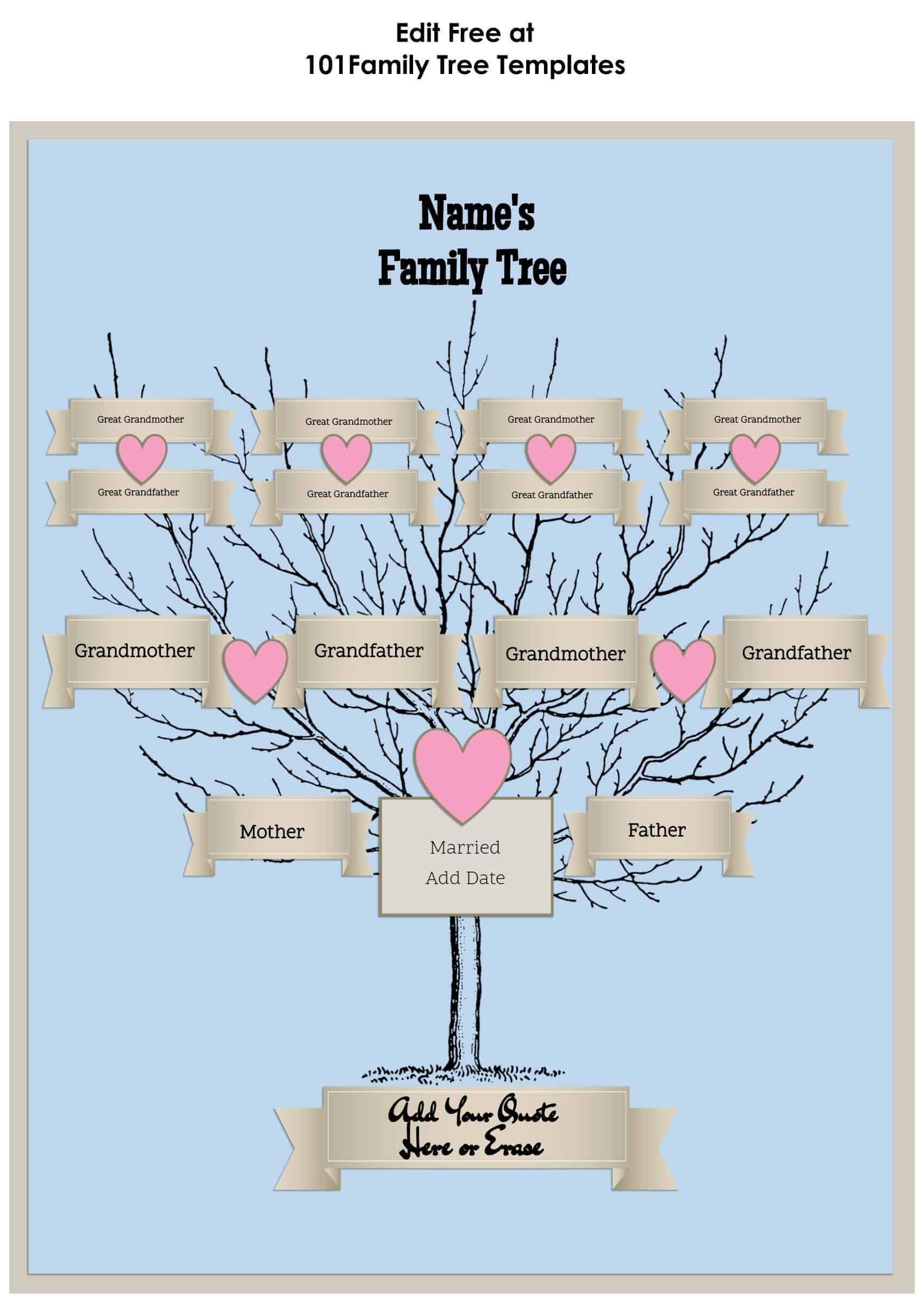 3 Generation Family Tree Generator | All Templates Are Free Throughout 3 Generation Family Tree Template Word