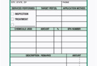 3-Part Pest Control Service Report Book, Carbonless | Pest within Pest Control Report Template