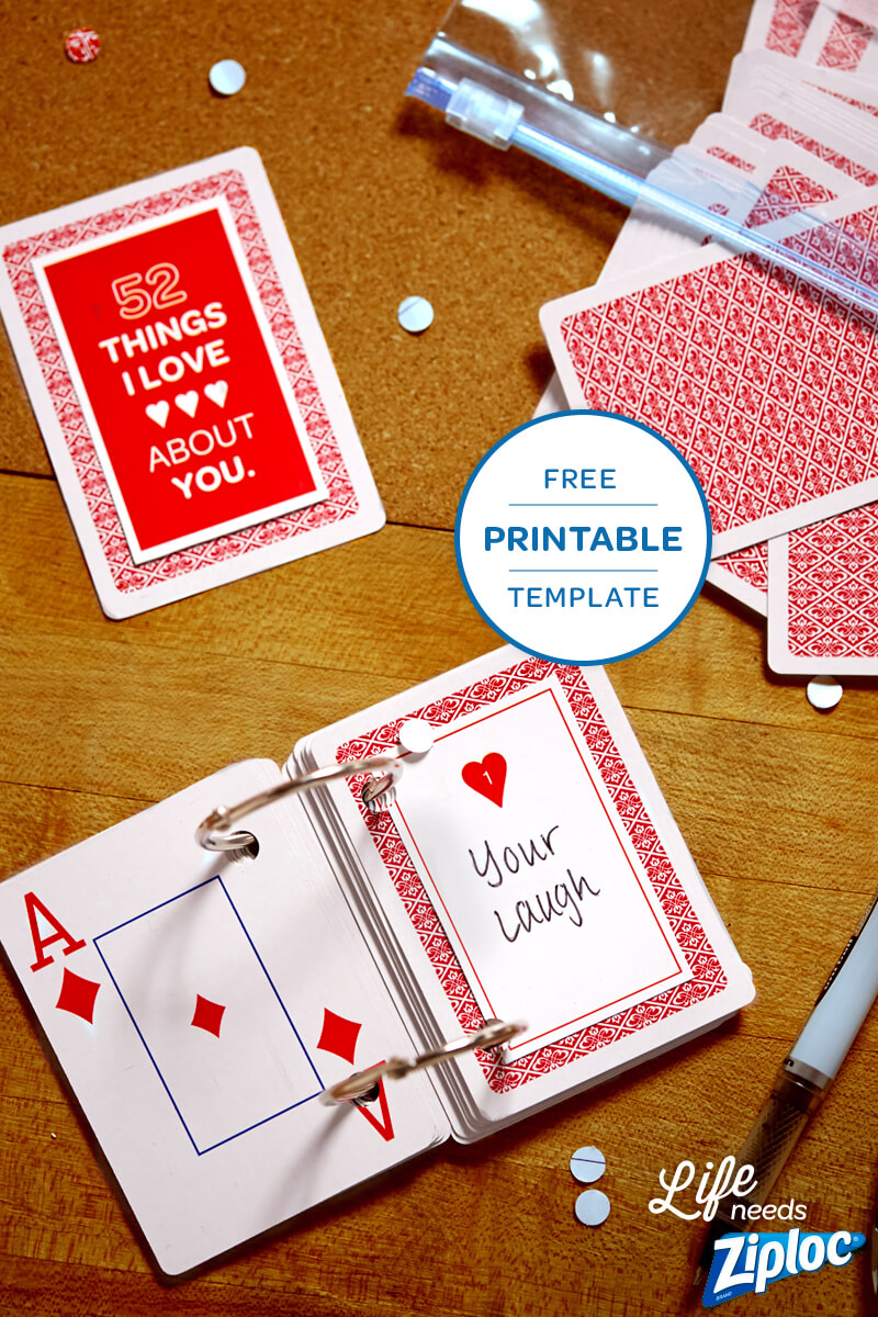 3 Small But Mighty Ways To Say I Love You | 52 Reasons Why I With Regard To 52 Things I Love About You Deck Of Cards Template