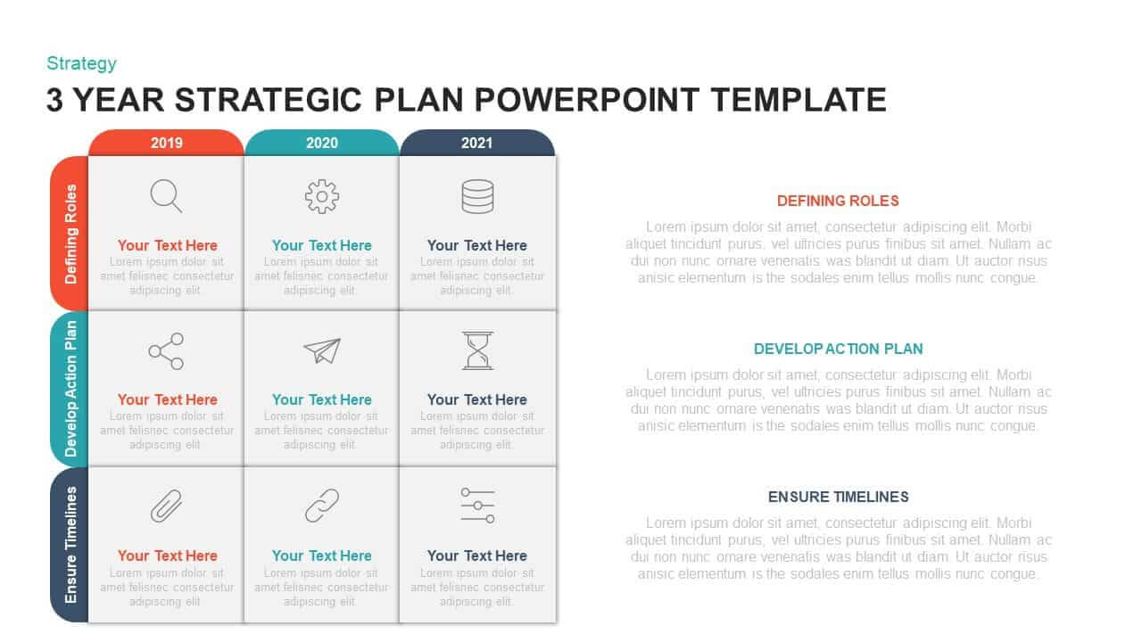3 Year Strategic Plan Powerpoint Template & Kaynote Within Strategy Document Template Powerpoint