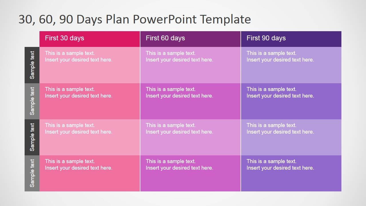 30 60 90 Days Plan Powerpoint Template | 90 Day Plan Regarding 30 60 90 Day Plan Template Powerpoint