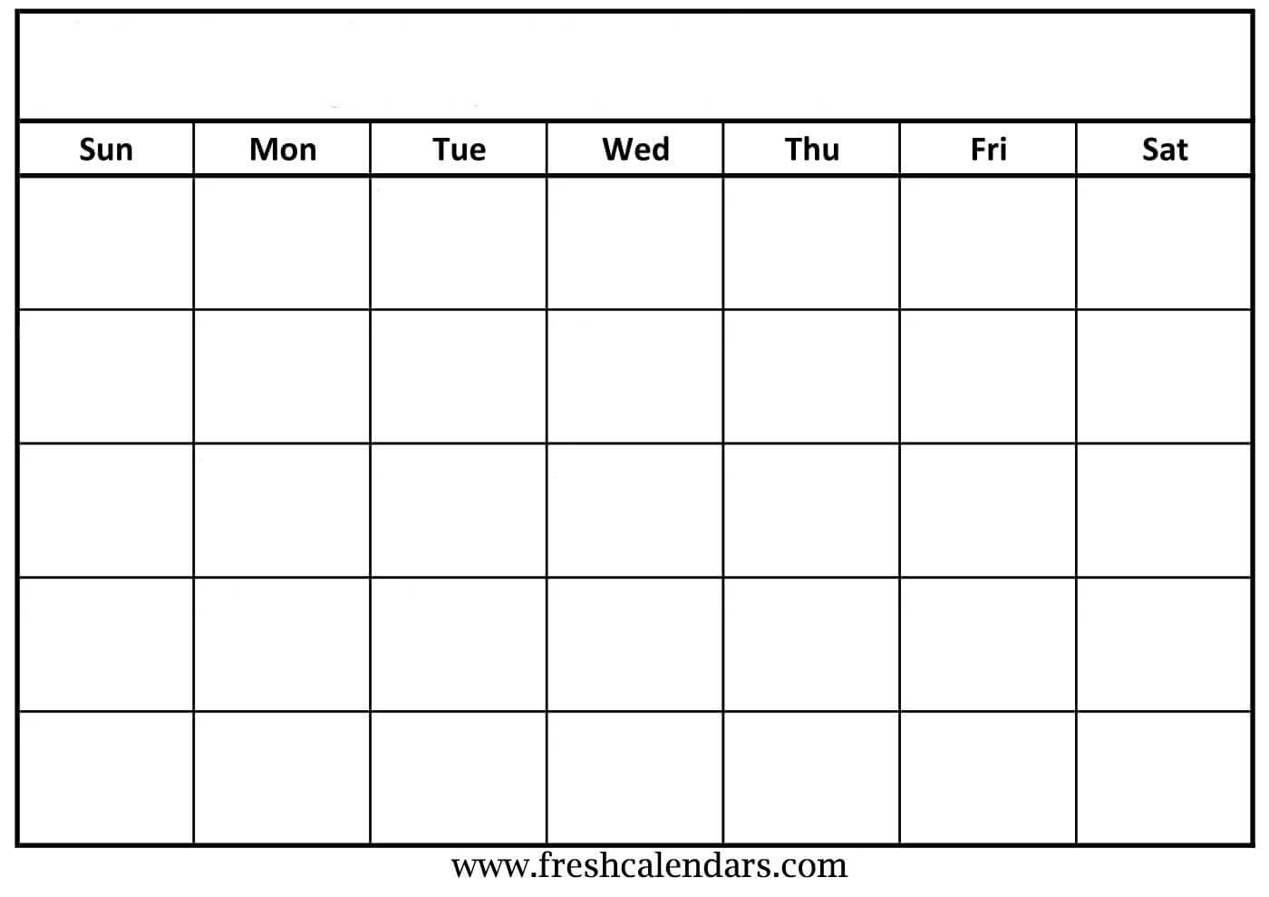 30 Blank Calendar Template 2019 | Andaluzseattle Template Within Blank Calander Template