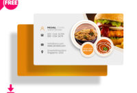 30+ Delicate Restaurant Business Card Templates | Decolore with regard to Food Business Cards Templates Free