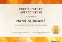 30 Free Certificate Of Appreciation Templates And Letters in Volunteer Certificate Templates