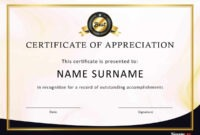 30 Free Certificate Of Appreciation Templates And Letters inside Army Certificate Of Appreciation Template