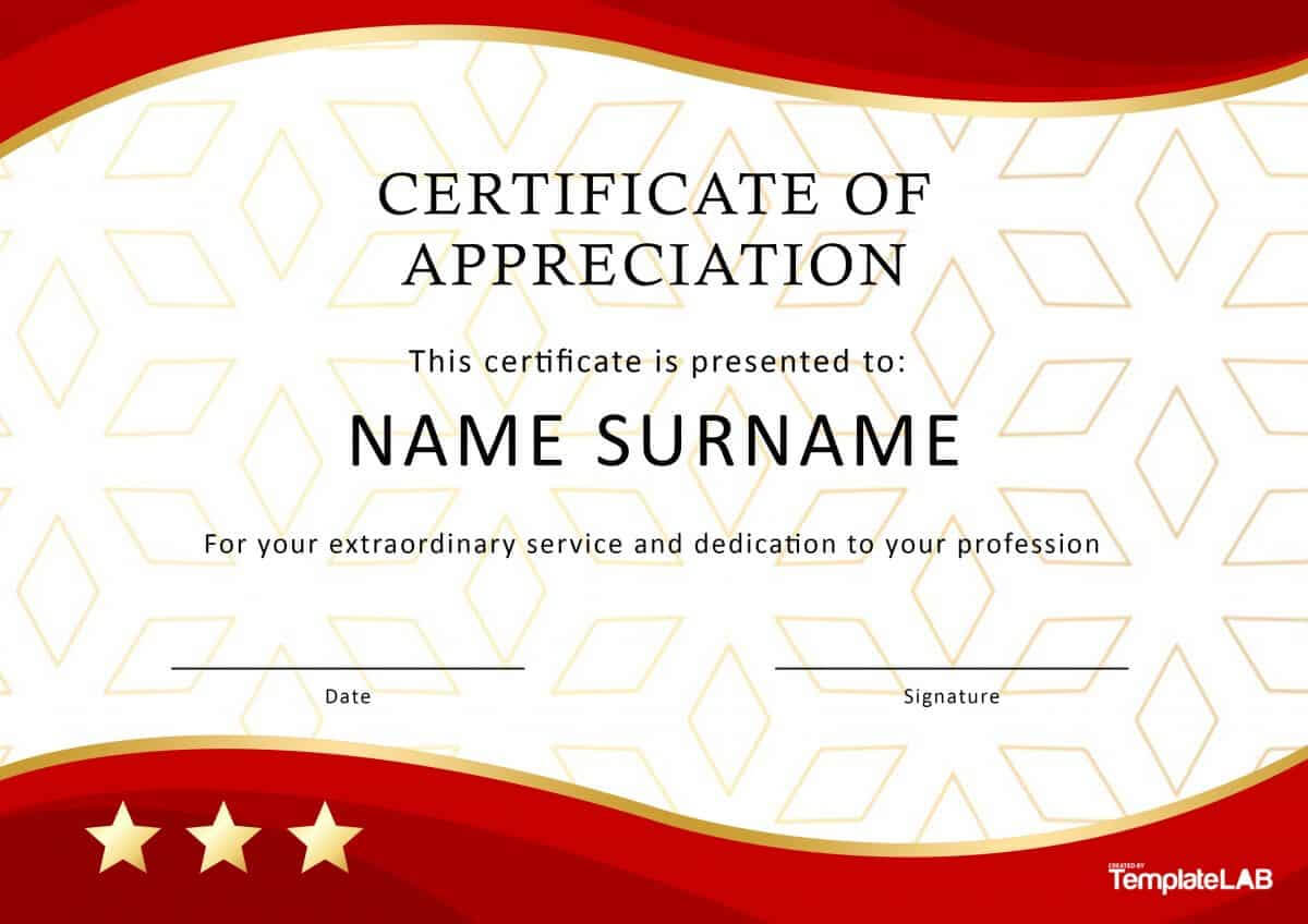 30 Free Certificate Of Appreciation Templates And Letters Inside Best Employee Award Certificate Templates