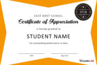 30 Free Certificate Of Appreciation Templates And Letters inside Microsoft Office Certificate Templates Free