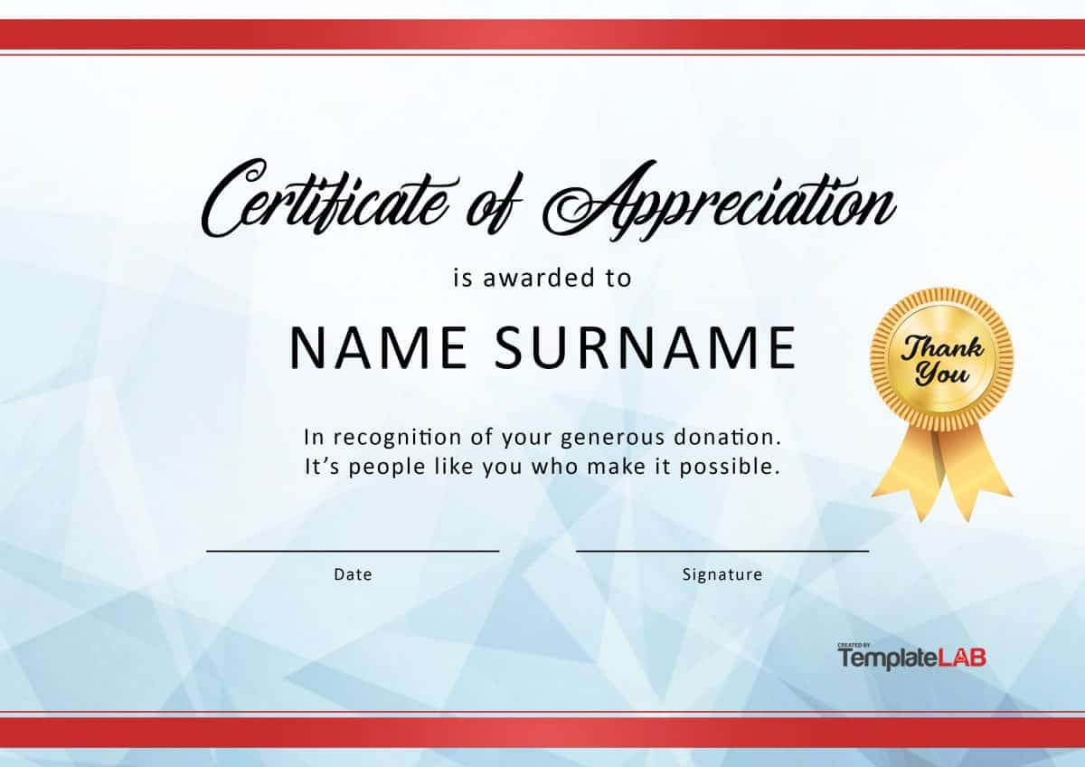 30 Free Certificate Of Appreciation Templates And Letters Inside Pageant Certificate Template
