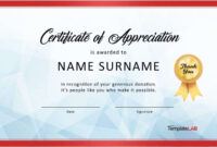 30 Free Certificate Of Appreciation Templates And Letters pertaining to Dance Certificate Template