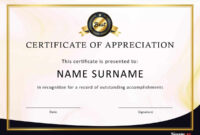 30 Free Certificate Of Appreciation Templates And Letters pertaining to Template For Certificate Of Award
