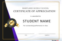 30 Free Certificate Of Appreciation Templates And Letters regarding Free Student Certificate Templates