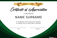 30 Free Certificate Of Appreciation Templates And Letters throughout Free Template For Certificate Of Recognition