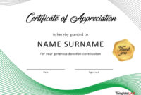30 Free Certificate Of Appreciation Templates And Letters With In Appreciation Certificate Templates