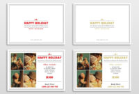 30 Holiday Card Templates For Photographers To Use This Year within Free Christmas Card Templates For Photographers