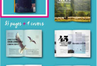 30 Magazine Templates With Creative Print Layout Designs inside Magazine Template For Microsoft Word