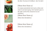 32 Free Simple Menu Templates For Restaurants, Cafes, And within Free Cafe Menu Templates For Word