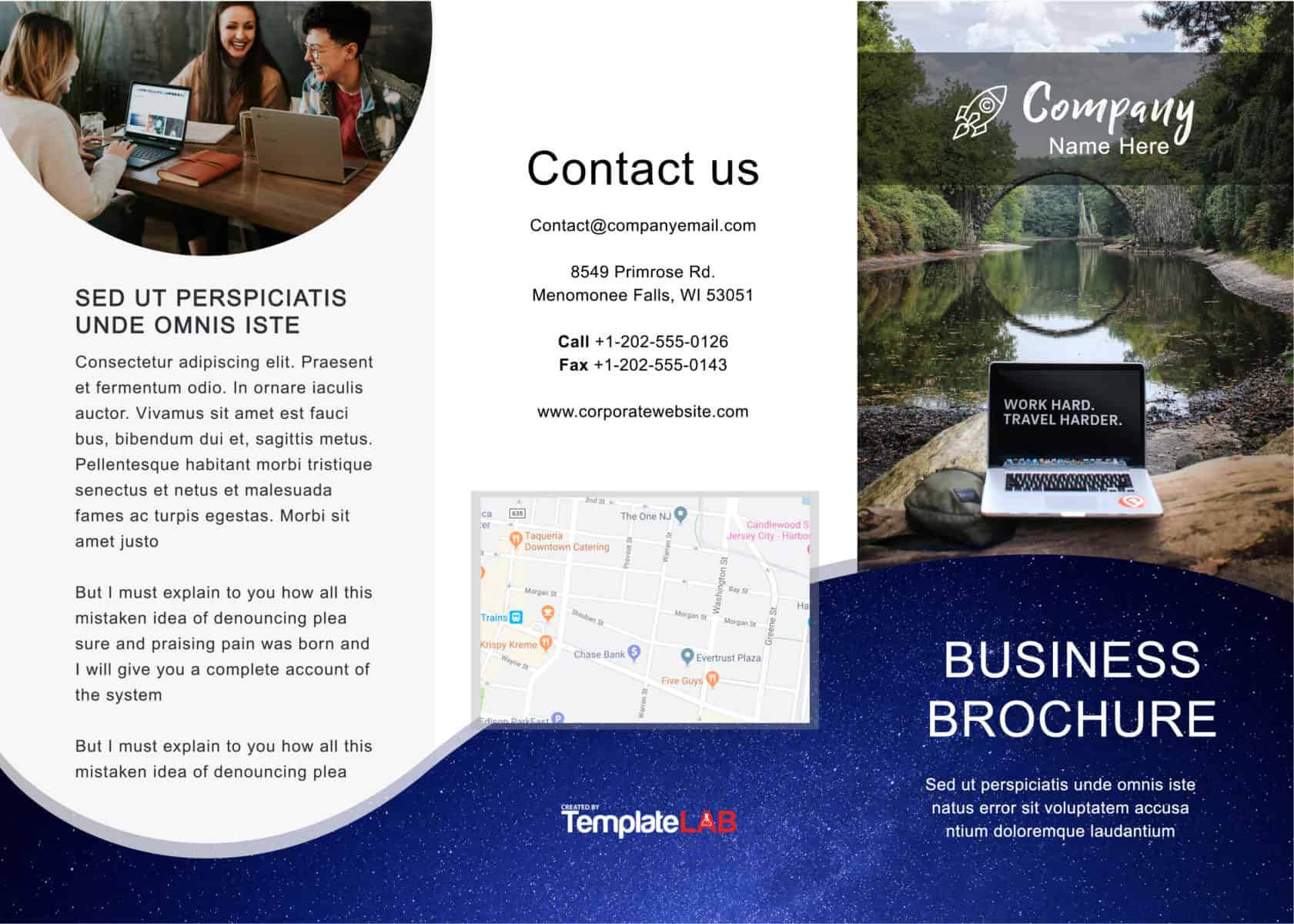 33 Free Brochure Templates (Word + Pdf) ᐅ Template Lab Pertaining To Free Online Tri Fold Brochure Template