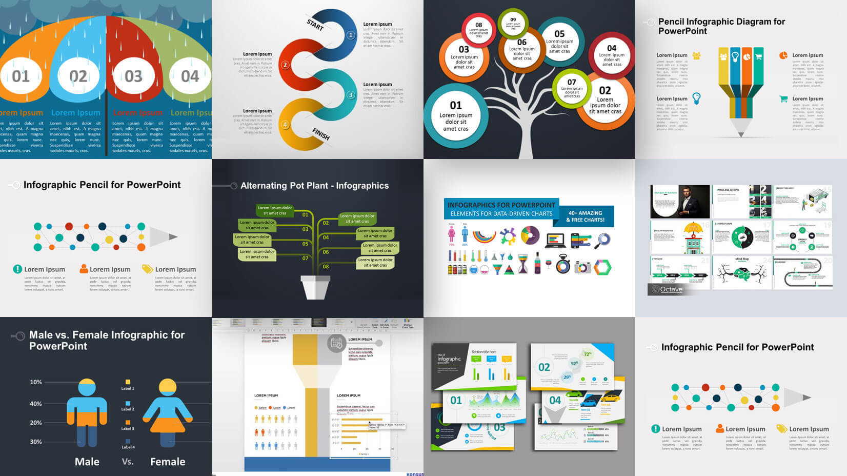 35+ Free Infographic Powerpoint Templates To Power Your Within What Is Template In Powerpoint