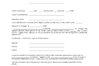 37+ Credit Card Authorization Form Template Download!! with regard to Credit Card On File Form Templates