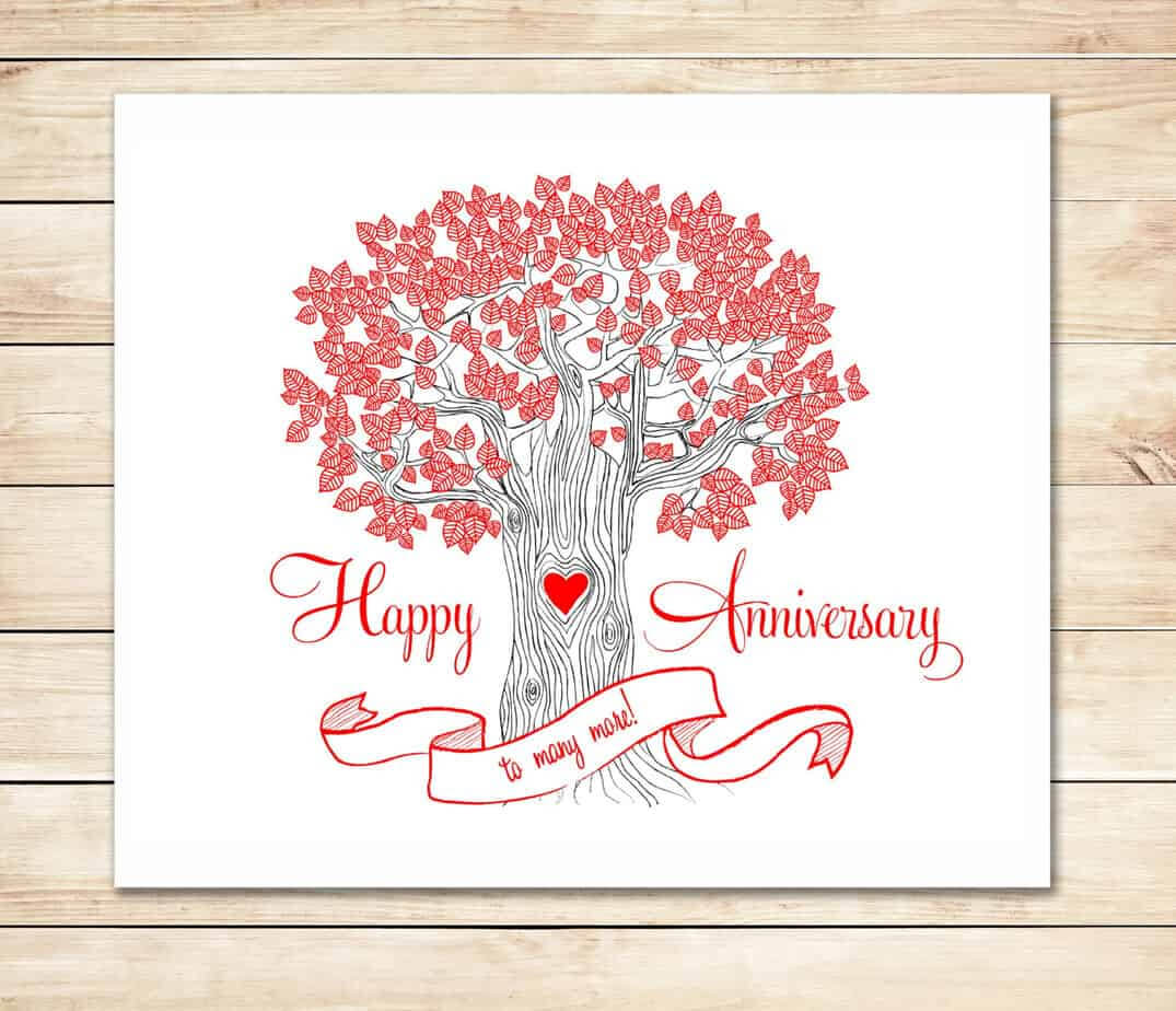 39+ Free Anniversary Card Templates In Word Excel Pdf Inside Anniversary Card Template Word