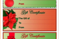 4 Christmas Gift Certificate Template Free Download | Survey throughout Free Christmas Gift Certificate Templates