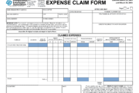 4 Expense Claim Form Templates – Word Excel Formats for Reimbursement Form Template Word