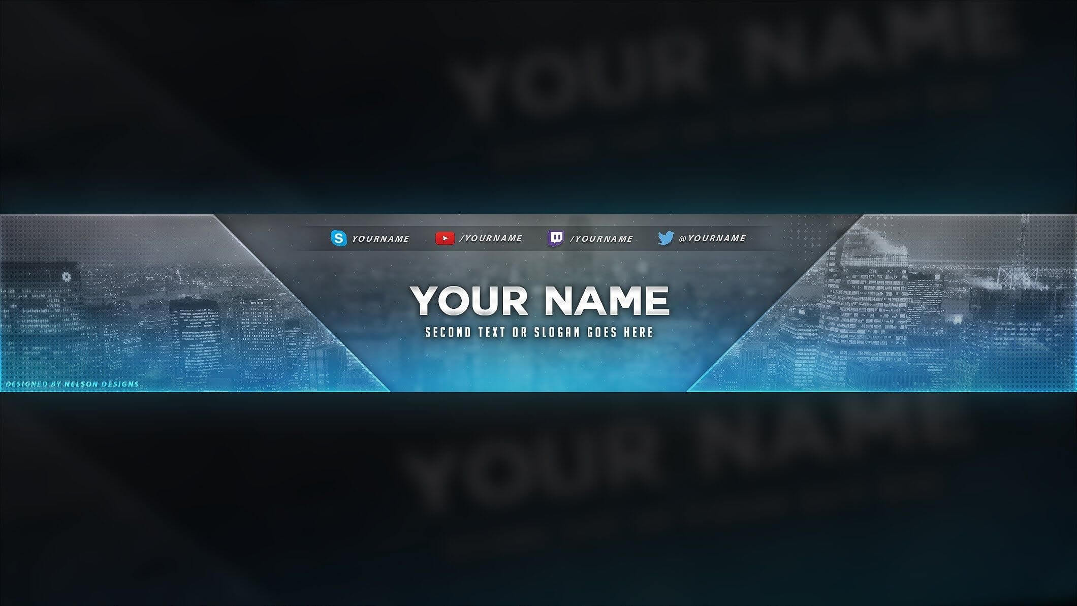 4 Free Youtube Banner Psd Template Designs - Social Media Intended For Yt Banner Template