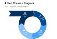 4 Step Circular Chevron Diagram Template | Chevron in Powerpoint Chevron Template