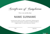 40 Fantastic Certificate Of Completion Templates [Word in Certificate Of Completion Template Word