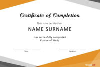 40 Fantastic Certificate Of Completion Templates [Word in Free Certificate Of Completion Template Word