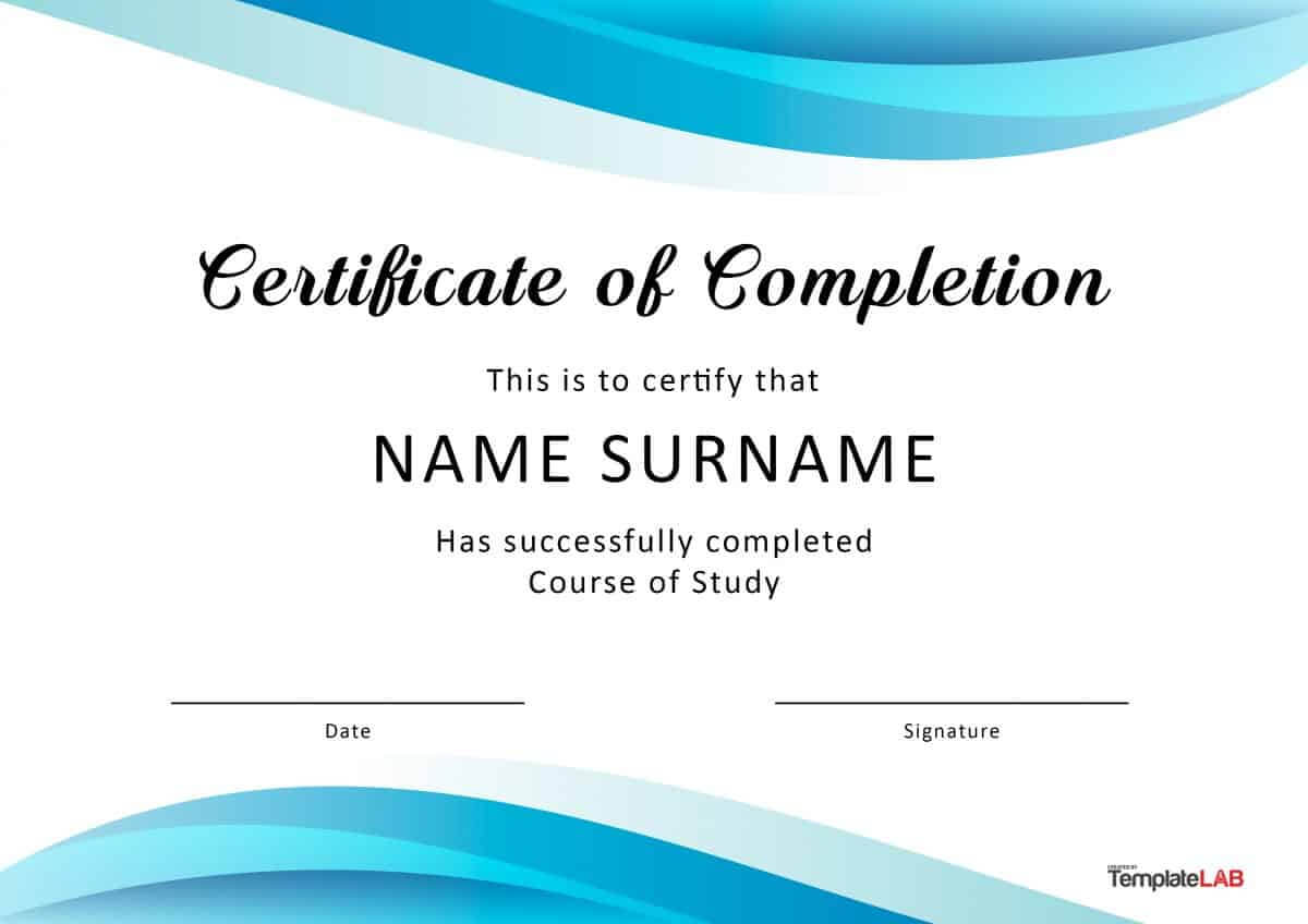 40 Fantastic Certificate Of Completion Templates [Word Pertaining To Certificate Of Attendance Conference Template