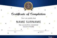 40 Fantastic Certificate Of Completion Templates [Word Regarding 5Th Grade Graduation Certificate Template