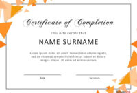 40 Fantastic Certificate Of Completion Templates [Word regarding Certificate Of Achievement Template Word