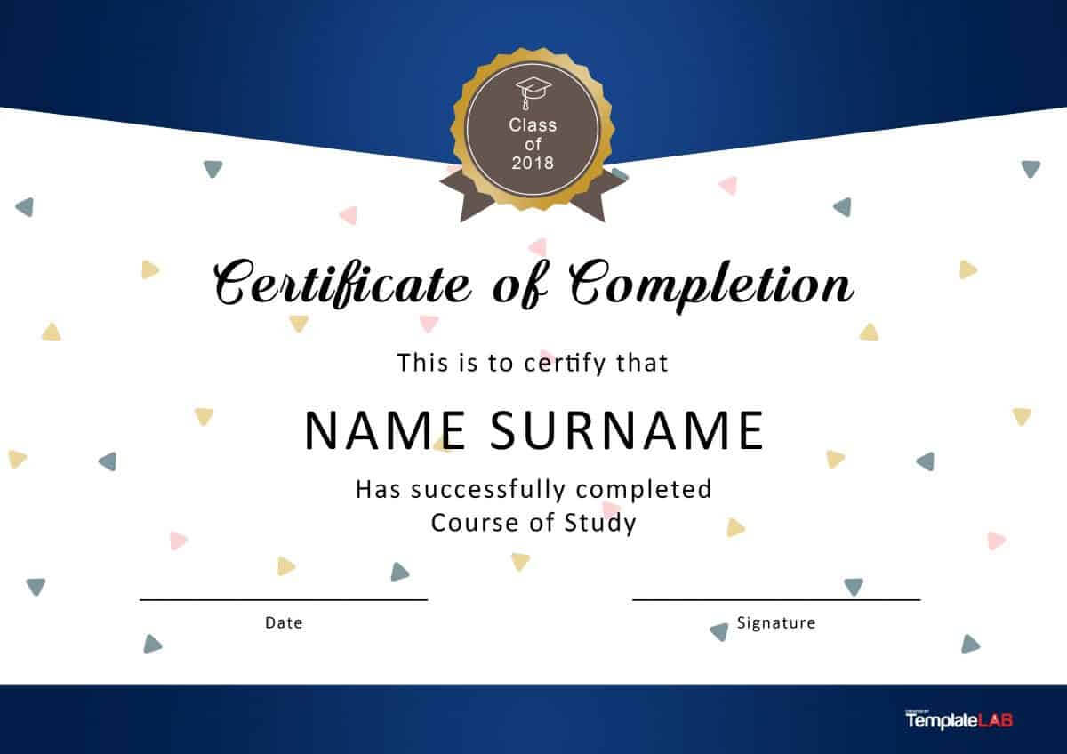 40 Fantastic Certificate Of Completion Templates [Word With Regard To Free Certificate Of Completion Template Word