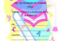 40+ Free Graduation Invitation Templates ᐅ Template Lab in Free Graduation Invitation Templates For Word