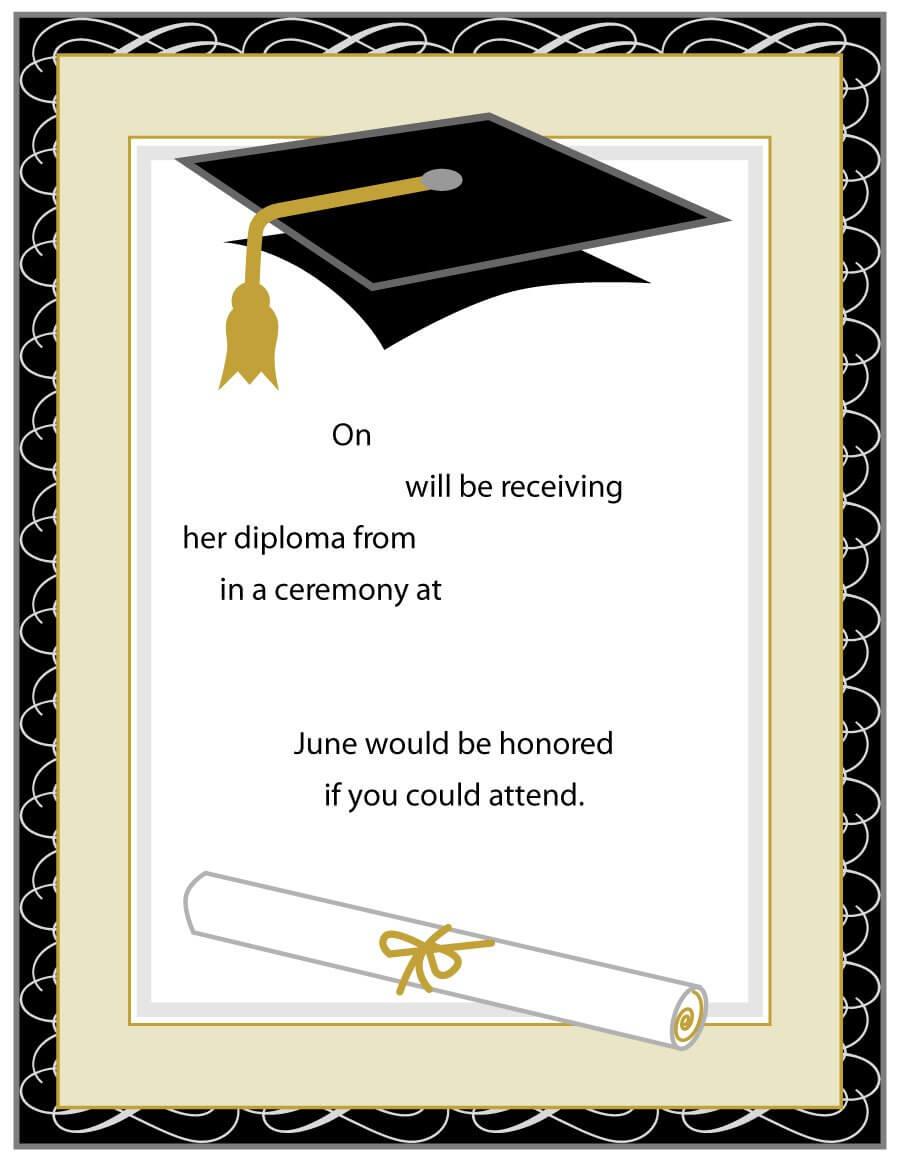 40+ Free Graduation Invitation Templates ᐅ Template Lab Within Graduation Invitation Templates Microsoft Word